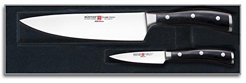 Wüsthof Classic-Ikon - Estuche con cuchillos de cocinero y puntilla