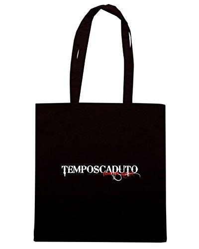T-Shirtshock - Borsa Shopping T0902 tempo scaduto politica Nero