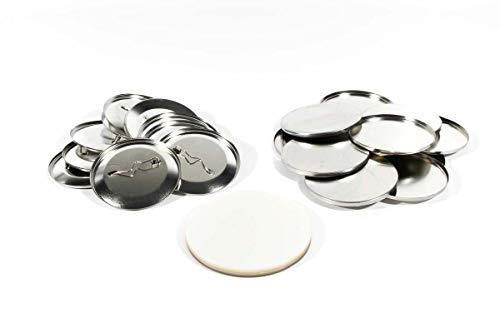 Buttonrohlinge 59mm (100 Stück) für Badgematic Buttonmaschine mit Sicherheitsnadel