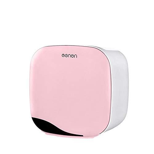 Taifaheng Toilettenpapierhalter KlopapierrollenhalterBadezimmer Tissue Box frei lochen wasserdicht Toilettenpapier Aufbewahrungsbox rosa
