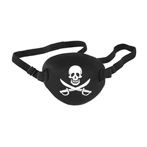 Benda occhio pirata costume da pirata per bambino adulto (nero)