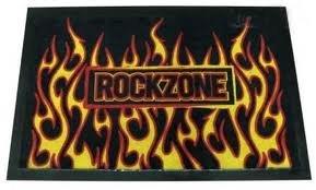ZERBINO Rock Zone Flames Style ZERBINO 60x 40cm ZERBINO tappetino zerbino sporco
