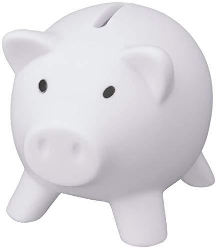 noTrash2003 Sparschwein Sparbüchse Geld sparen Dekoration Schwein Schweinchen Piggy Miss Verch. Farben (Weiß)