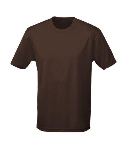 Just Cool - Performance T-Shirt, atmungsaktiv L,Hot-Chocolate (T-shirts Herren Hot)
