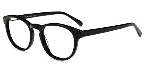 Firmoo Anti Blaulicht Brille Computer Brille Damen Herren, Kratzfeste Blendfreie Blaulichtfilter Brille Vollrand Brillefassung Nerd Brillengestelle
