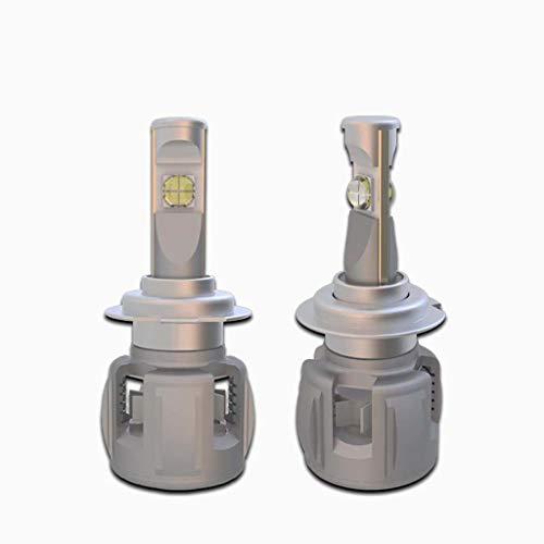 X 70 kit de phare LED H4, aluminium de remplacement halogène près et de loin la lumière lumière de 5800ML, blanc 12 24V, 1 pièce