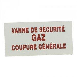Etichetta di segnalazione rigida/200x 100mm/valvola Crossover Gas ha non riaprire che una persona autorisee/rosso/bianco