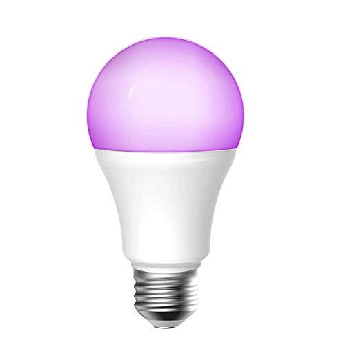 Lampadina LED Dimmerabile Wi-Fi E27 Bianco Regolabile (2700-6500K), 9W equivalente a 60W A21 colorato funziona con Alexa, Echo, Google Home e IFTTT, app remote, non richiede Hub, MSL-120, meross