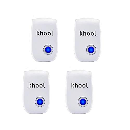 Khool Repelente Plagas por Ultrasonidos. Pack de 4 repelentes. No afecta a personas ni mascotas