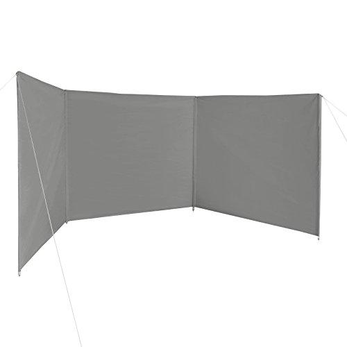 BB Sport Windschutz Sichtschutz WINDERMERE 500 x 140 cm für Strand Camping Garten inkl. Packtasche, Abspannleinen und Heringen, Farbe:Schattengrau