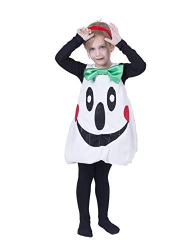 Devil Kostüm Sweet - Karnevalsbud - Mädchen Kinder Kostüm, süßes Geist Slipover Costume, Sweet Ghost, perfekt für Halloween Karneval und Fasching, 98, Weiß
