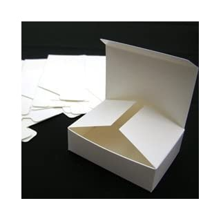 6 x Small Gift Boxes, 8.7cm x 6.2cm x 2.6cm. (Code #G) White Self Assembly Box, suitable as mini chocolate boxes, mini fudge boxes, mini sweetie boxes or gift box for handmade soap.