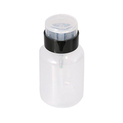 Tragbare Nagelkunst Presse Pumpspender Wesentliche Entferner Kunststoff-Flasche (Presse Und Dichtung Groß)