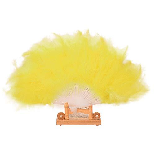 Kostüm Professionelle Burlesque Tanz - MOTOCO Damen Faltfächer Blumenmuster Seidenfächer Handfächer Eleganter Tanzfächer Hochzeitsdekoration