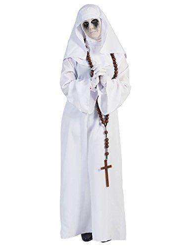 Funny Kostüme Für Halloween (Pierro´s Kostüm Nonne weiß Damenkostüm Größe)