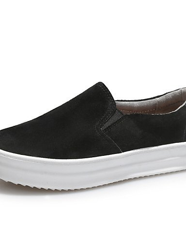 ZQ Scarpe Donna - Ballerine / Mocassini - Tempo libero / Casual / Sportivo - Plateau / Creepers - Plateau - Scamosciato -Nero / Rosso / , gray-us8.5 / eu39 / uk6.5 / cn40 , gray-us8.5 / eu39 / uk6.5 / black-us7.5 / eu38 / uk5.5 / cn38