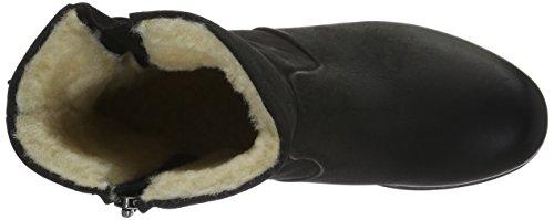 Blackstone - Mw63, Stivali a metà gamba con imbottitura pesante Donna Nero (Nero (nero))