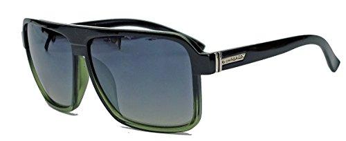 Old School Sonnenbrille Herren Nerd Brille 80er Jahre Flat Top oversized MODELLWAHL F79 (M4: Grün (Hop School Hip Old Brille)