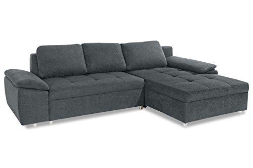 Sofa Ecksofa Labene - Grau - Luxus-Microfaser Grau - 3