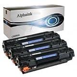 Alphaink AI-CE285A Kit 3 toner compatibili per Laserjet Pro M1130 MFP, M1132 MFP, M1134 MFP, M1136 MFP, M1137 MFP, M1210 MFP, M1212 MFP, M1213, M1214 MFP, M1217 MFP, M1218 MFP, M1219NF 2000 copie