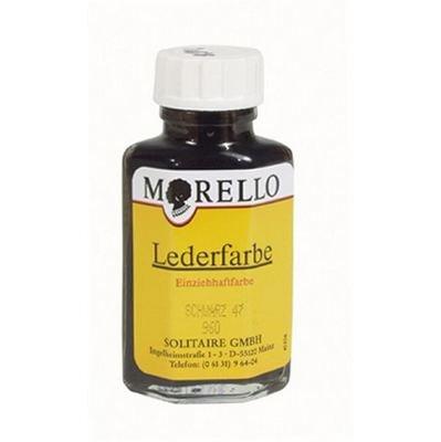 Morello Einziehhaftfarbe Lederfarbe 40ml Schwarz -