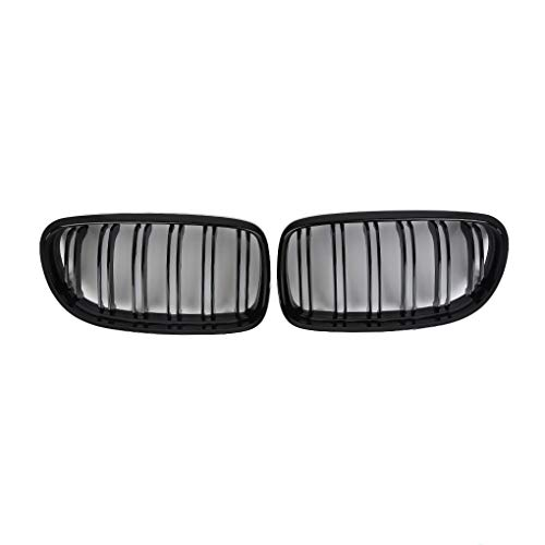 Aiming Para el período 2008-2011 de riñón de BMW E90 E91 Negro Brillante Delantero de Doble listón Parachoques Parrilla