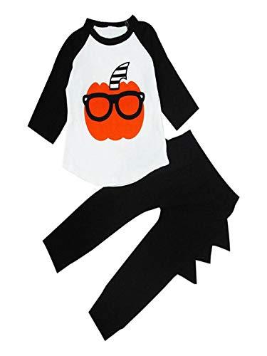 Kleinkind Kostüm Jungen Für Indische - Cuteelf Halloween Kostüm Kinder Kleinkind Jungen Halloween Kürbis Druck T-Shirt + Hosen Kleidung Jungen Halloween Herbst Anzug niedlichen Herbst und Winter Hosen mit Langen Ärmeln