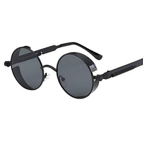 Ginli occhiali,occhiali da sole vintage da uomo occhiali da sole retro fashion eyewear radiation protection occhiali da sole blackout