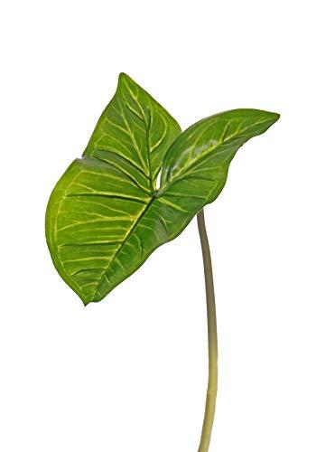 artplants Set 24 x Künstliches Syngonium Blatt Jordan, grün, 50 cm - 24 Stück Kunstpflanze Purpurtute/Deko Blätter