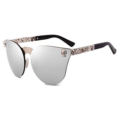 Juleya Unisex Gafas de sol góticas Calavera Steampunk Gafas de sol Punk Retro Shades C4