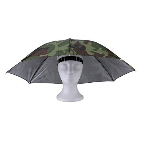 Vige Portable Outdoor Sports 69 cm Regenschirm Hut Kappe Falten Frauen Männer Regenschirm Angeln Wandern Golf Strand Headwear Handsfree Regenschirm (Sport-hüte Für Männer)