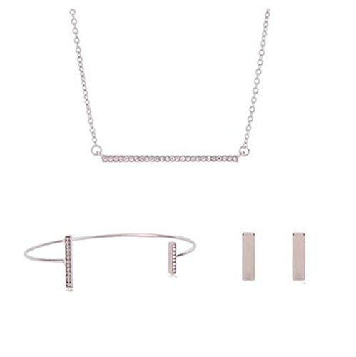 Armband Silber Geburtstag M/ädchen Alltag Sterling Silber 1 Set Damen Ringe Ohrringe GYJUN Schmuck Halsketten Party Verlobung