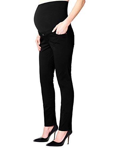 ESPRIT Maternity Damen Umstands Hosen Pants Otb Slim O8C113, Schwarz (Black 001), 44 (Herstellergröße:44/32) Maternity Bootcut-hose