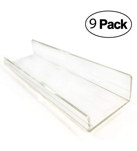 Heavy Duty Klar Floating Regal Set, Crystal Acryl Bad Regale, Duschwagen, Nagellack Frauen Make-up Veranstalter, Gewürzregal Kinderzimmer Wand Dekor Display Bücherregal Bathroom Flosting Shelves (9) - Wand-dekor-wand-regale