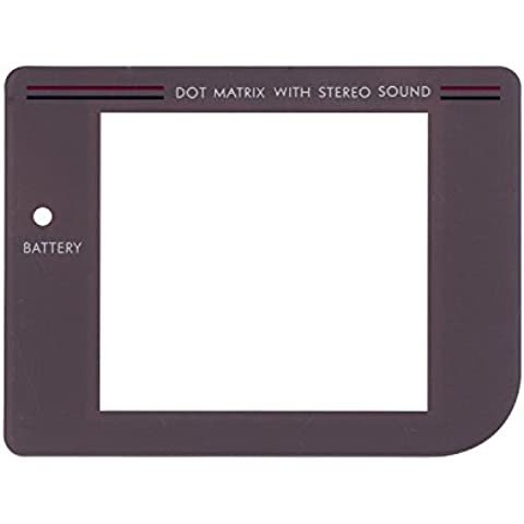 eJiasu Cubierta de la caja reemplazo de la pantalla GB protectora de la lente de la lámpara con agujero para Nintendo Game Boy Original System / Game Boy lente protector de la pantalla (gris) (1 pieza)
