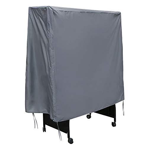 FCZBHT Möbelbezug Aktualisierung Wasserdicht Polyester Tischtennisabdeckung, Drinnen Draußen Staubschutz (Farbe : Grau, größe : 155 * 75 * 144cm)