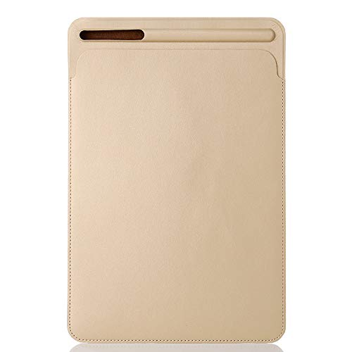 QinMM Ledertasche Hülle für 12,9 Zoll iPad Pro & Storage Apple Pencil, Leichtgewicht Anti-Scratch (Ipad Travel Lautsprecher)