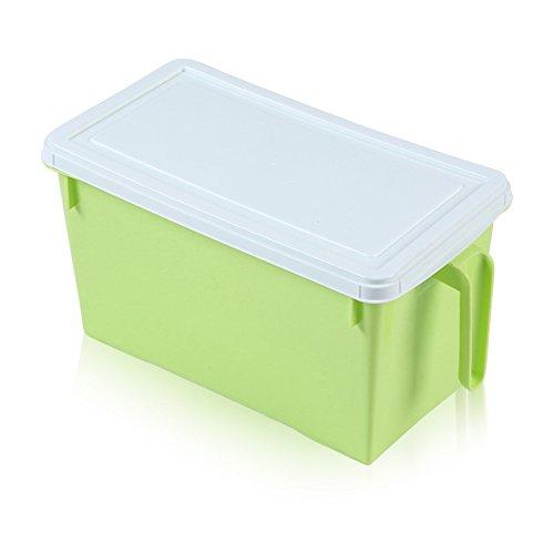 sannix Küche Rack Regal Aufbewahrung Container Kühlschrank Gefrierschrank und Kühlschrank Container Box mit Deckel groß Kunststoff Boxen für Prep Lebensmittel, und Obst Halter/Schublade Vielzahl Farbe Choices 2Pack grün (Prep Kühlschrank Tisch)