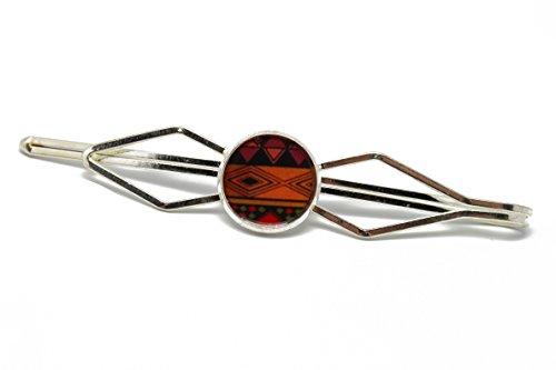 1 Pin Clip Krawatte Anzug Retro Harz Afrika orange schwarz braun Messing Bronze Geschenk personalisierte Noel Geburtstag Hochzeit Gast Vatertag Mann Valentinstag Freund danke Meister
