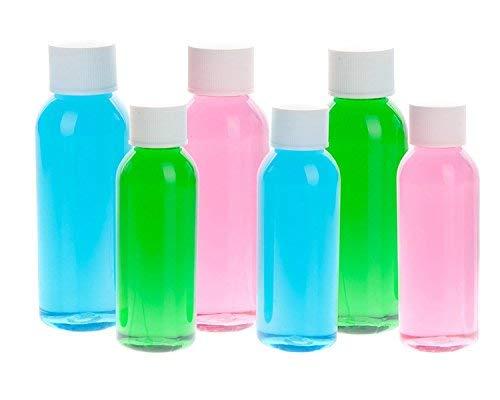 Air travel–confezione da 6bottiglie da viaggio bottigliette da 50ml, chiaro bottiglie da trasportare su voli (3x 50ml 3x ml)