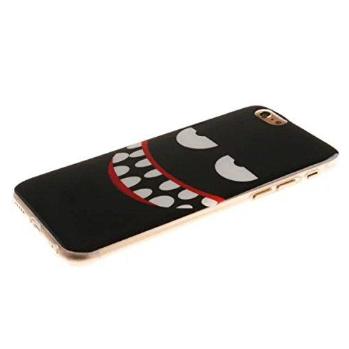 iPhone 6S Plus Hülle Case,iPhone 6 Plus Hülle Case,Gift_Source [Slim Thin] [Drop Protection] Premium Flexible Soft TPU Hülle Case Fashion Silicone Slim Hülle Case Cover für Apple iPhone 6s Plus / 6 Pl E01-06-Smile