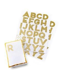 Gold Glitter Alphabet Buchstabe Blatt, gold (Glitter Blätter)