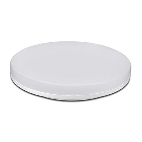Réduction pour Prime Day: J&C® Plafonnier LED Lampe Ronde sur Plafond IP44 Anti-Humidité Anti-Poussière Ceiling Light Éclairage Idéal 18W Blanc Neutre