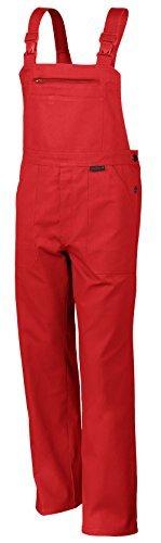 Qualitex Arbeits-Latzhose BW 270 - Größe: 50 - rot