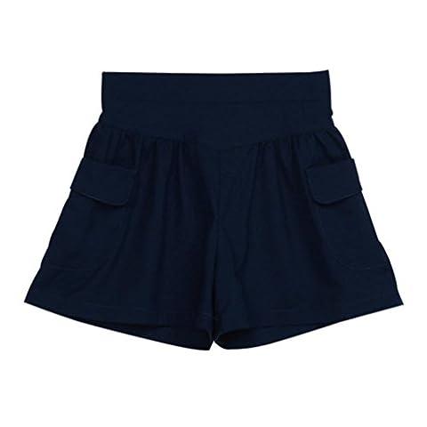Shorts, Malloom Été Femmes Jambe courte Shorts décontractés pour femmes Short court à taille haute (L, Noir)