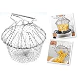 VKA Chef Basket 12 In 1 Kitchen Tool For Cook, Deep Fry, Boiling Solid Steel Delux