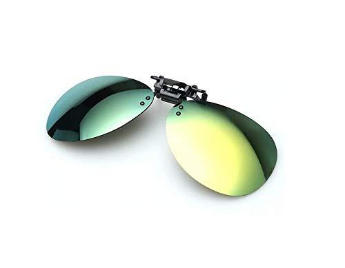 TENGGO Polarisierte Sonneneinbrüche Clip Sun Glassess Driving Night Vision Goggles-Grün