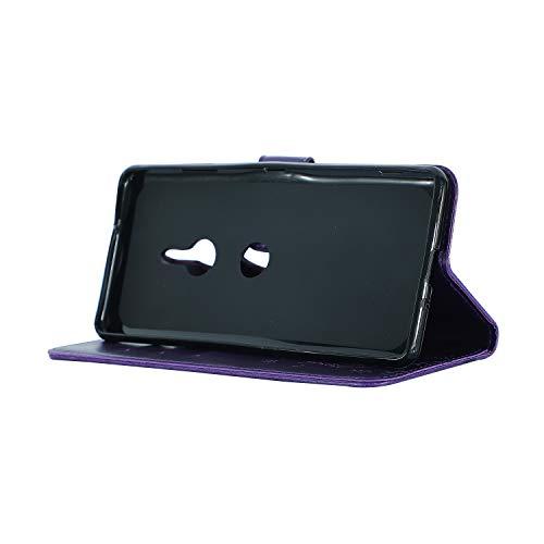 Étui de protection à rabat en silicone pour iPhone Xr lilas