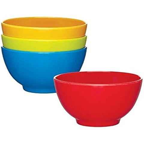 Miniamo Cuencos Brillante, Colores Surtidos 4 Por Paquete - Paquete de 6