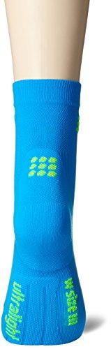 CEP Donna Compressione Abbigliamento Ultralight calzini corti electric blue/green